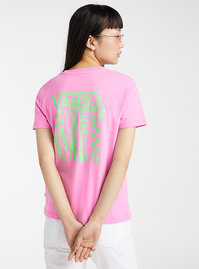 Vans Pink Candy pink logo tee for women