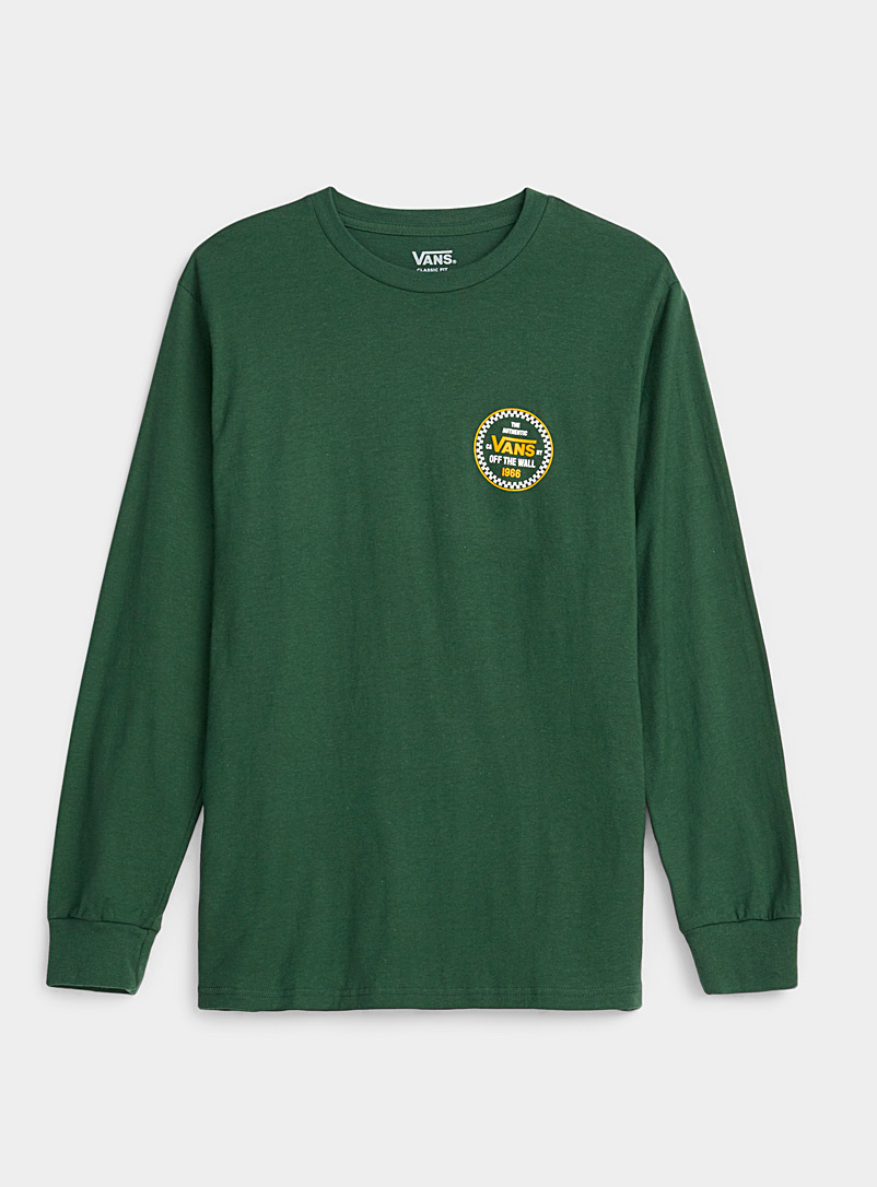 Vans Green Double-sided logo T-shirt for men