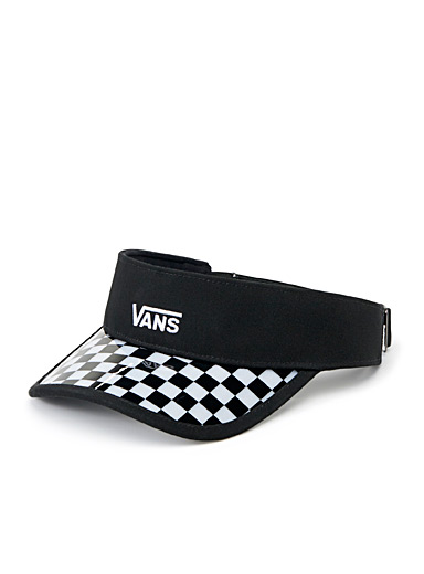Plastic-coated checkerboard visor
