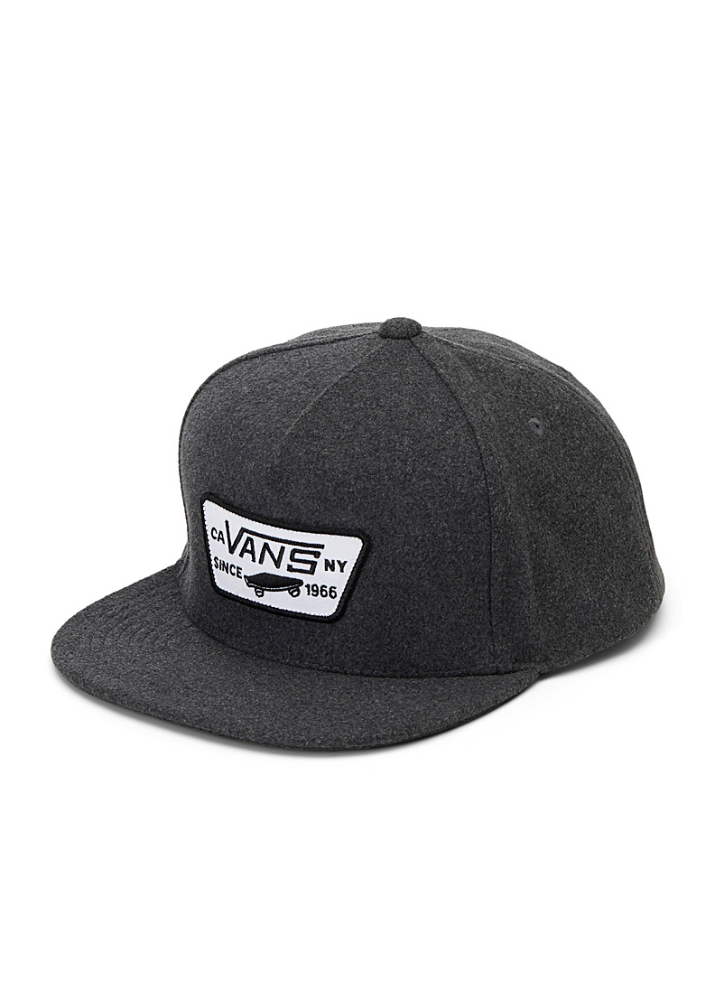 Vans Charcoal Emblem felt cap for men