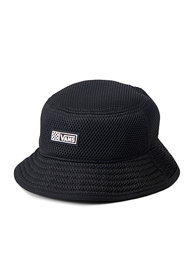Monochrome mesh bucket hat