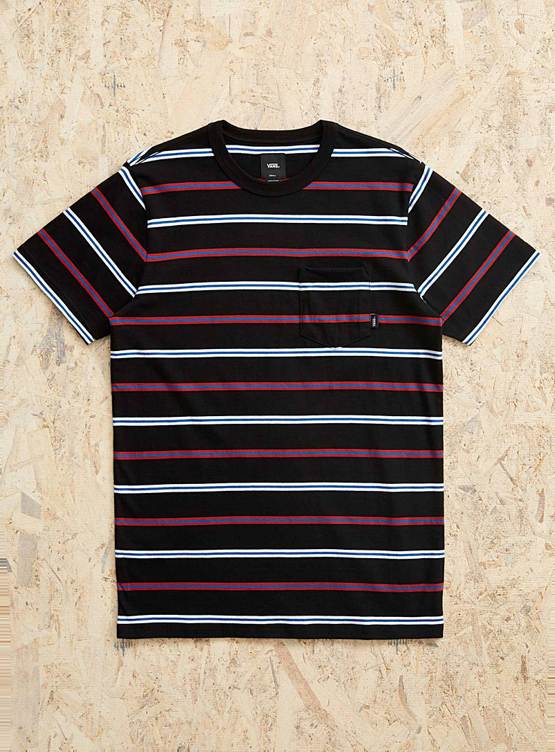 Vans Black Ribbon stripe T-shirt for men