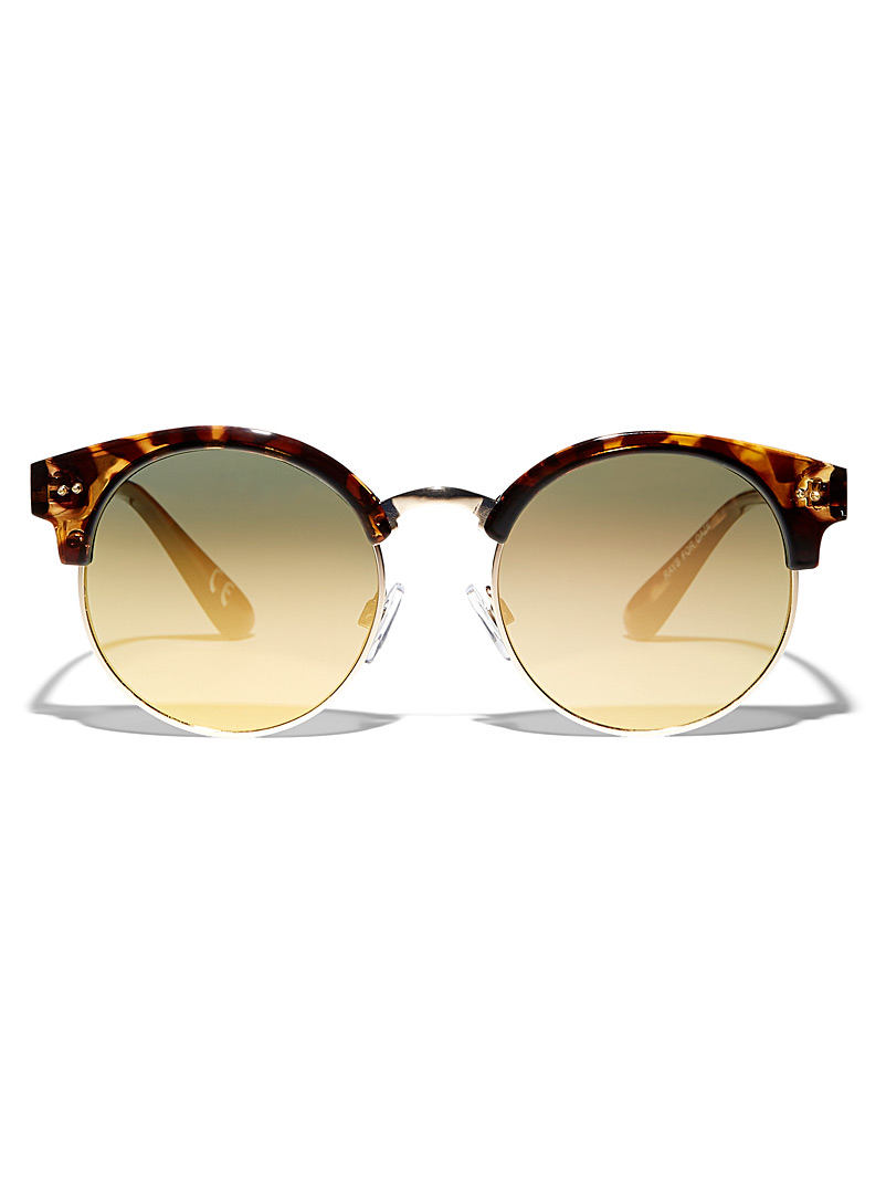 Vans Light Brown Rays For Daze round sunglasses for women
