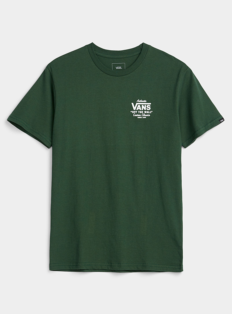 Vans Green Lettered logo T-shirt for men