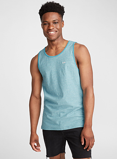 Pinstripe heather tank