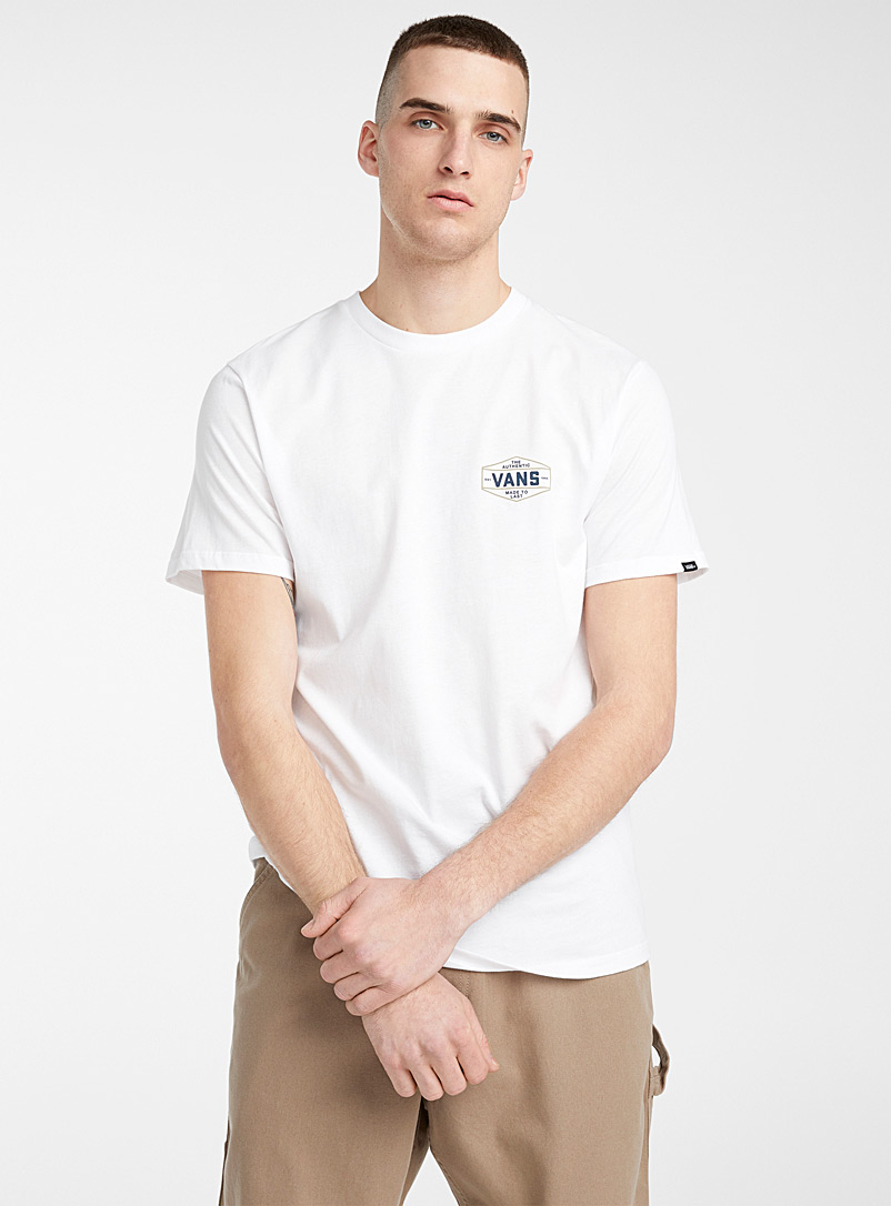 Vans White Vintage logo T-shirt for men