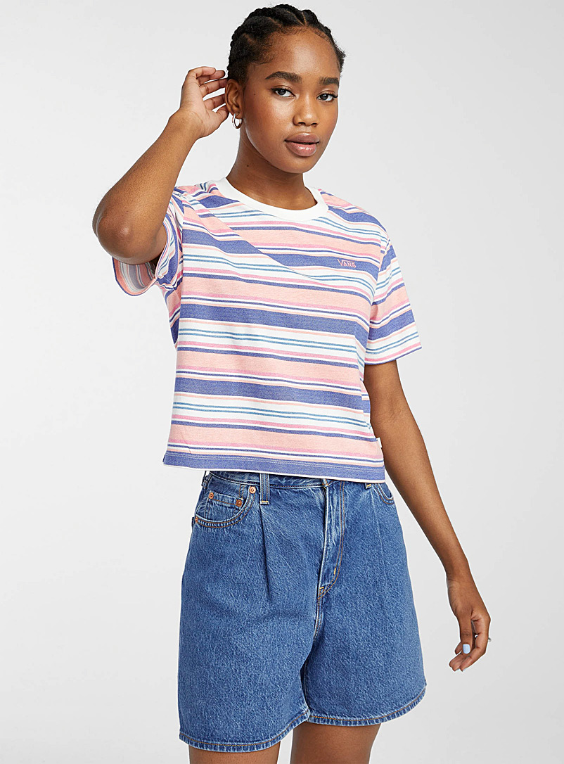 Vans Assorted Striped horizon cropped tee for women