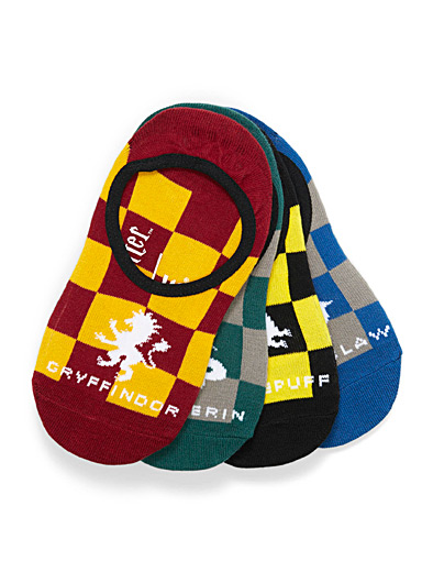 Checkered Harry Potter foot liners <br>Set of 4