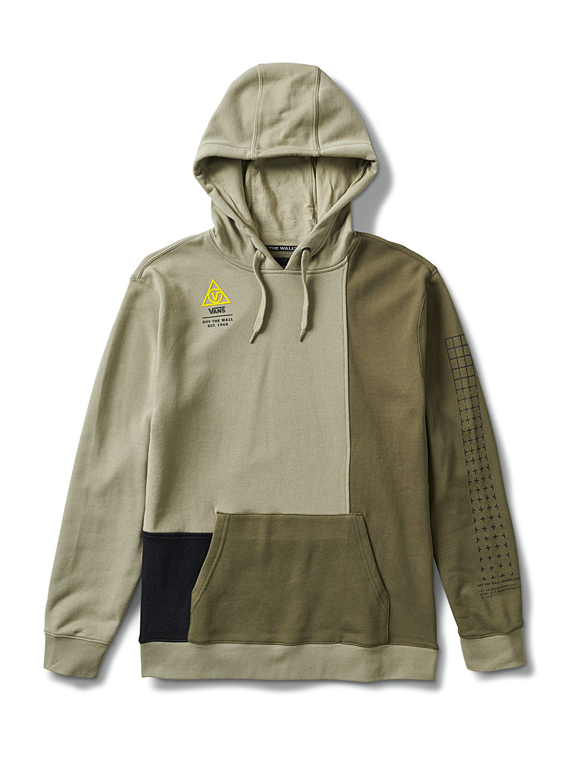 Vans Mossy Green Military block hoodie for men