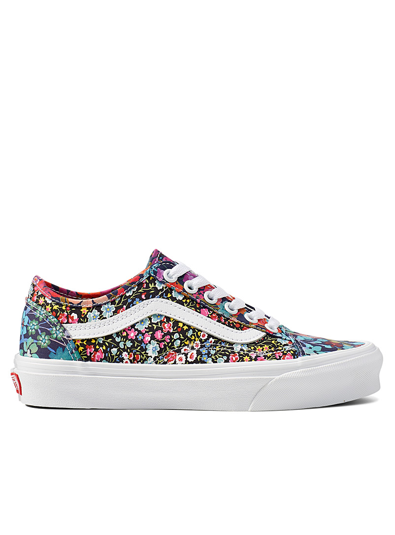 Vans Patterned Black Black background Liberty print Old Skool sneakers Women for women