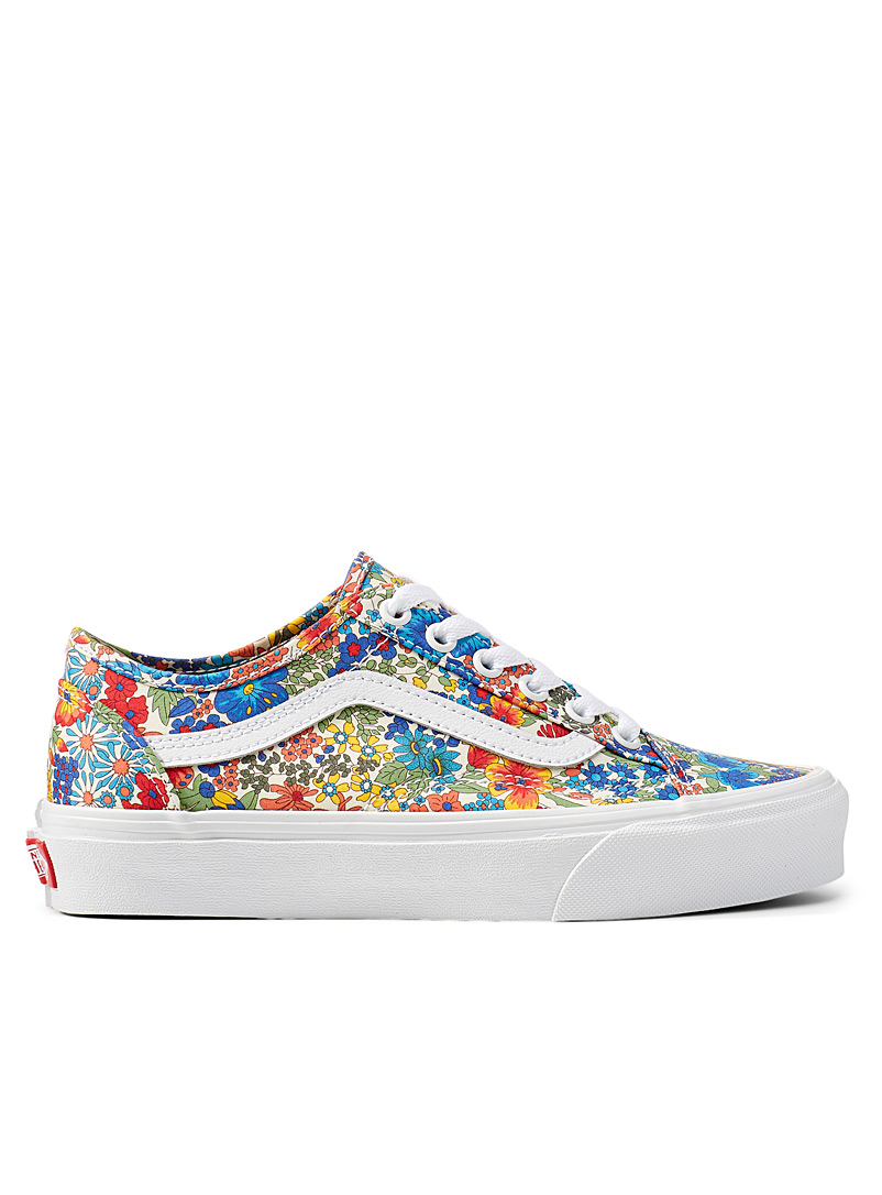 Vans Patterned Yellow Old Skool white-background Liberty-print sneakers Women for women