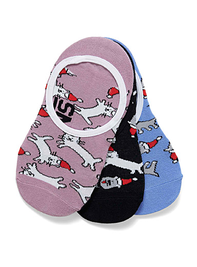 Festive animal foot liners <br>Set of 3