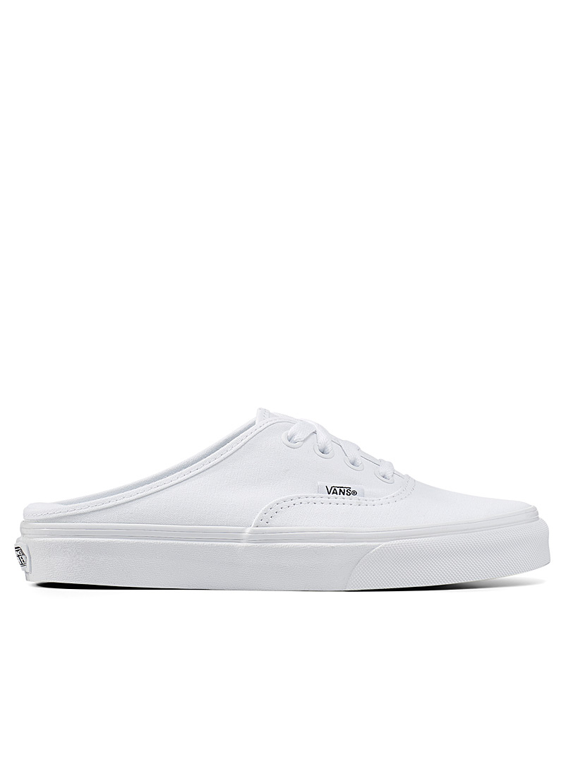 Vans White Authentic mule sneakers Women for women