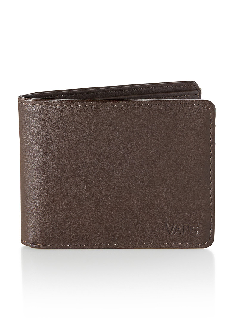 Vans Black Embossed logo faux-leather wallet for men