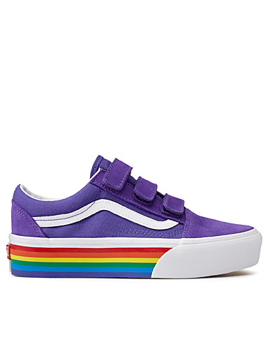 76c1ddff3b3 Rainbow Old Skool V Platform sneakers Women
