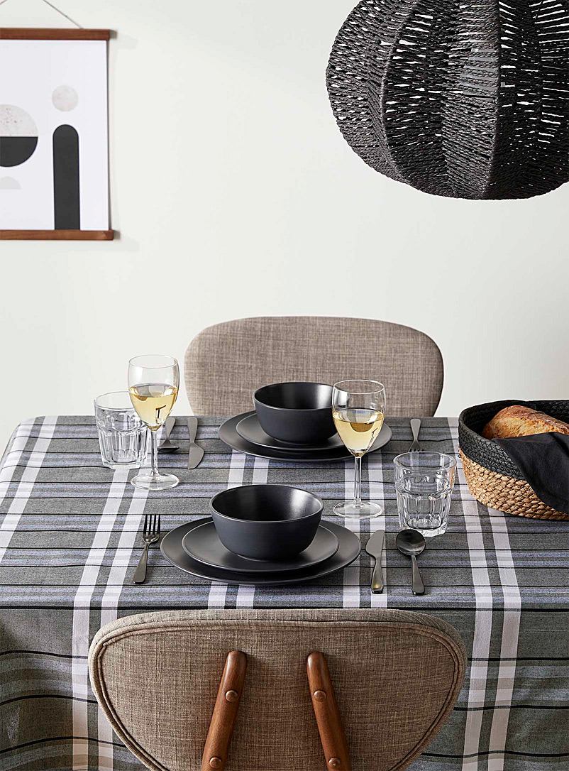 Chambray check tablecloth