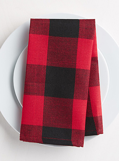 Hunter check napkin