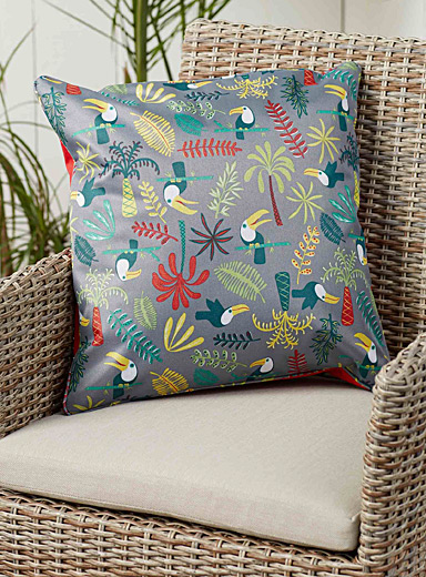 Live Outside toucan cushion  45 x 45 cm