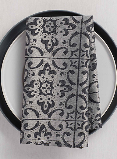 La serviette de table jacquard tuiles