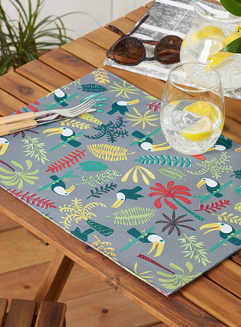 Live Outside toucans placemat - Fabric