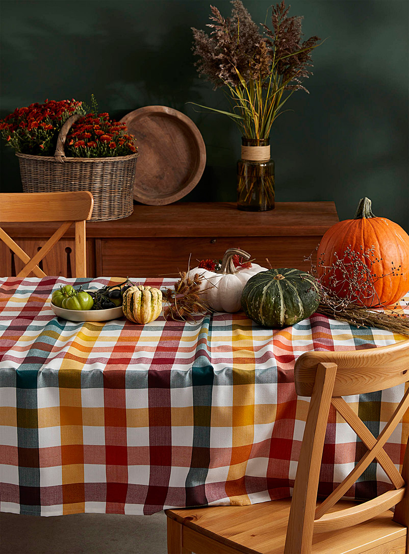 Check harvest tablecloth