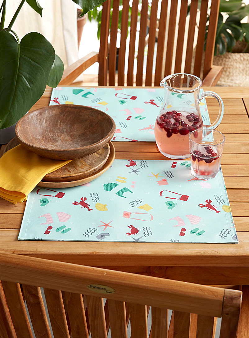 Simons Maison Assorted Beach vibes outdoor placemat