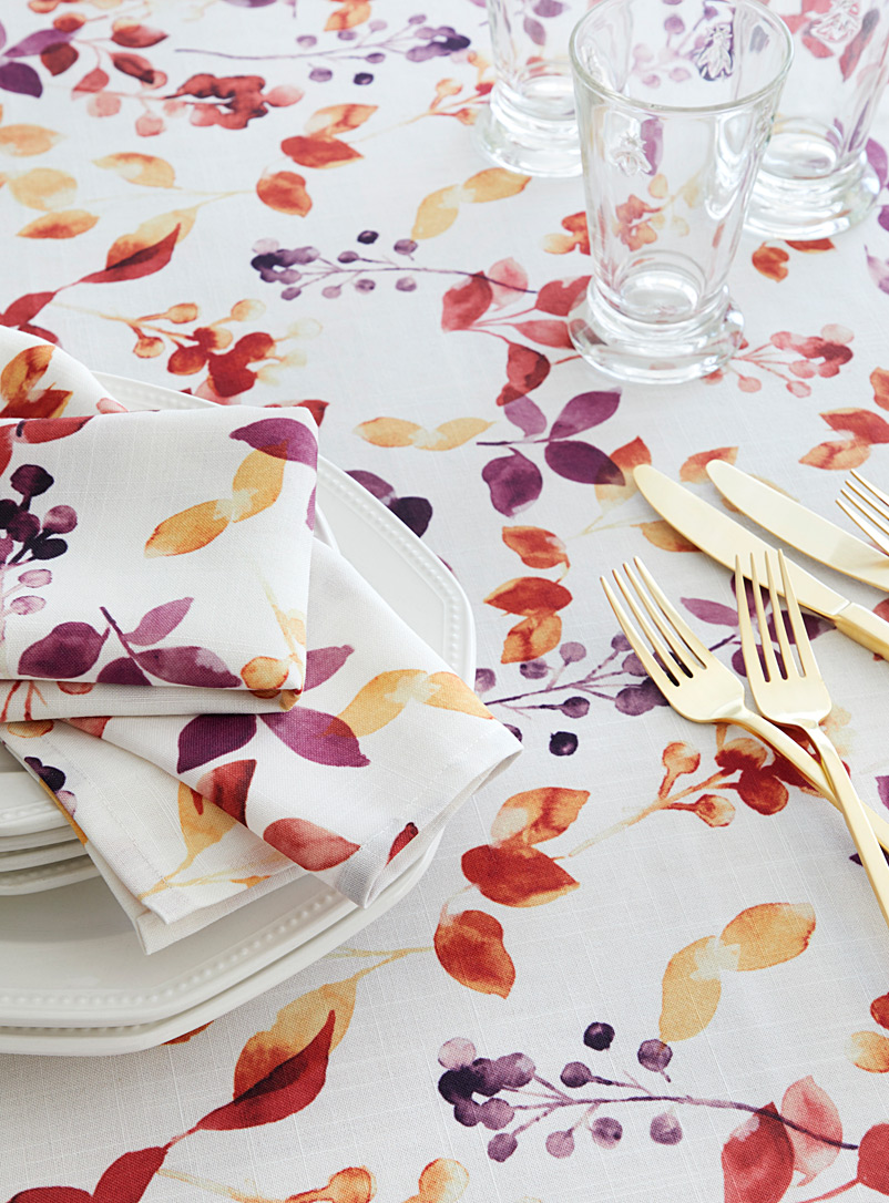 Leaf tablecloth - Printed - Assorted