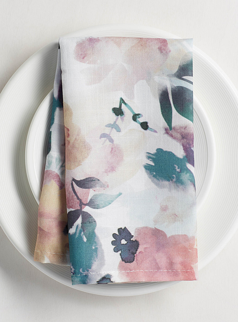 Floral poetry napkin - Matching - Assorted