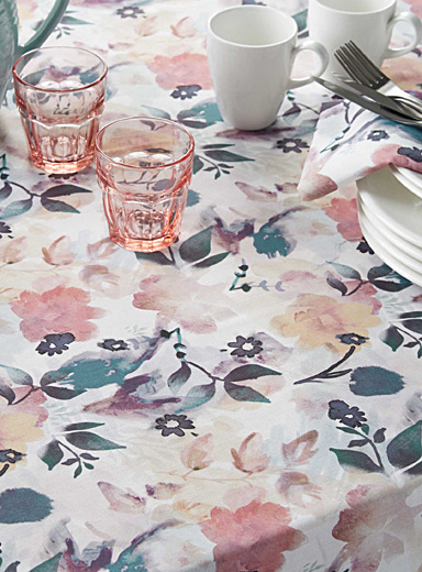 Floral poetry tablecloth