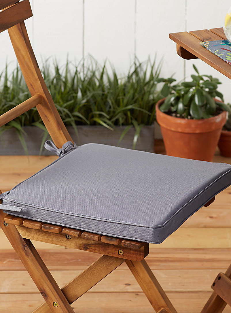 Simons Maison Charcoal Solid outdoor chairpad 38 x 38 cm