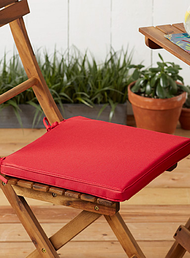 Simons Maison Red Solid outdoor chairpad  38 x 38 cm
