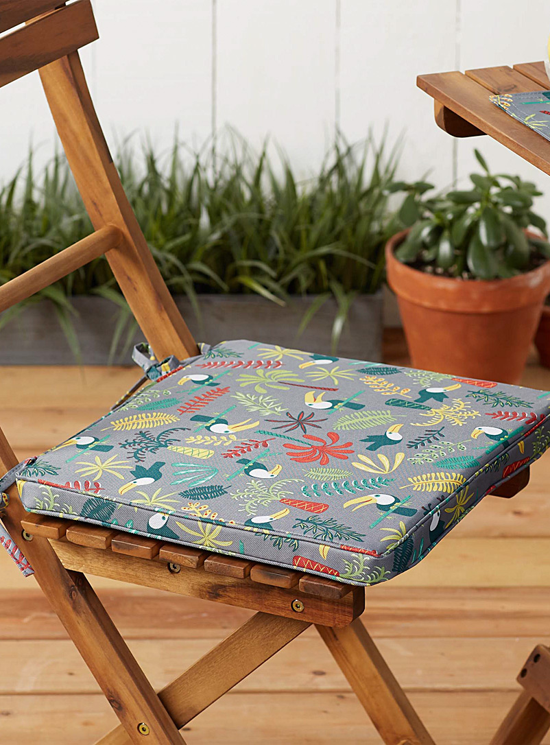 Simons Maison Assorted Toucans outdoor chairpad  38 x 38 cm