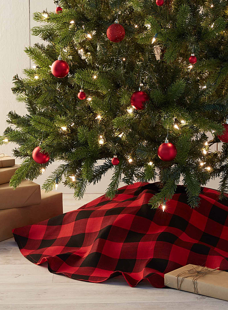 Hunter check tree skirt - Stylish Objects & Decor Accents - Assorted