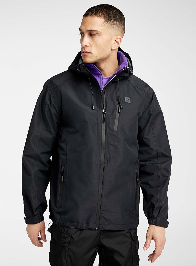I.FIV5 Black Outdoor raincoat for men