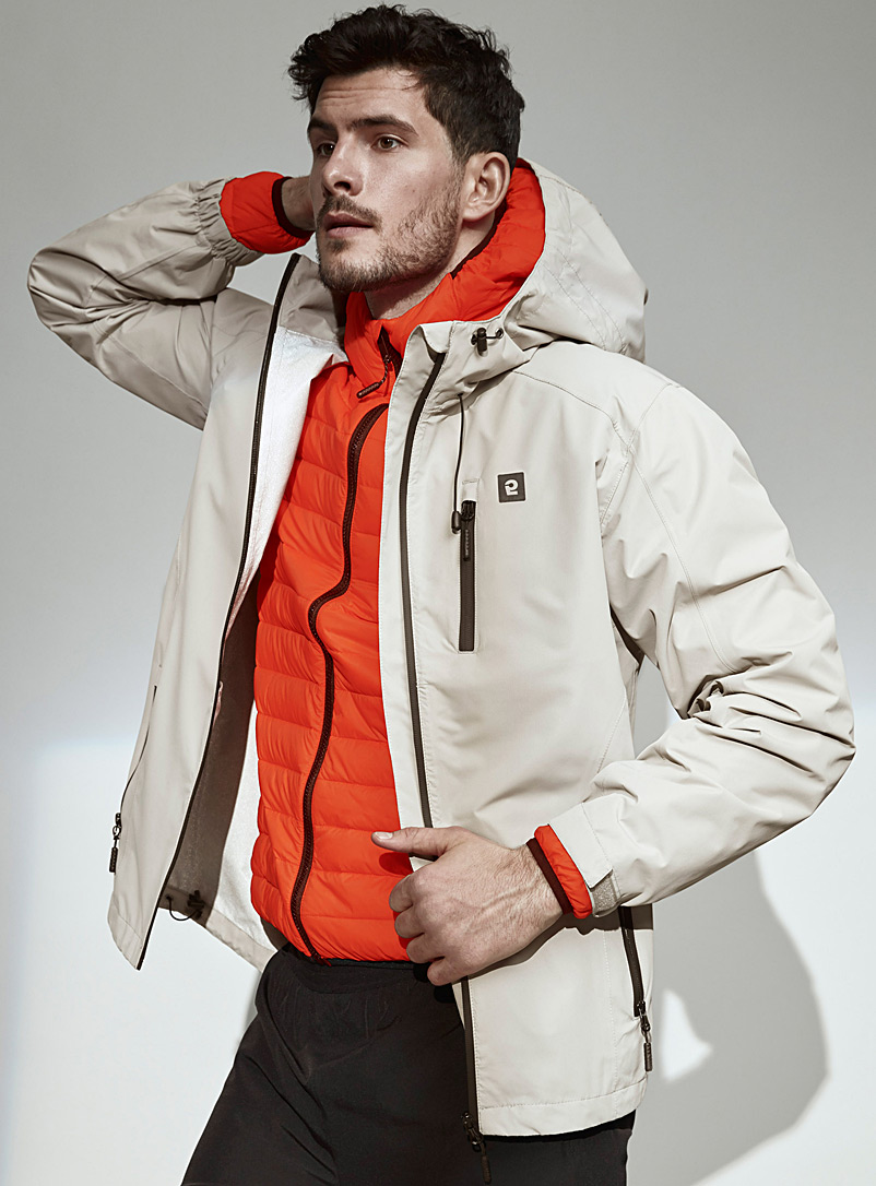 I.FIV5 Light Grey Outdoor raincoat for men