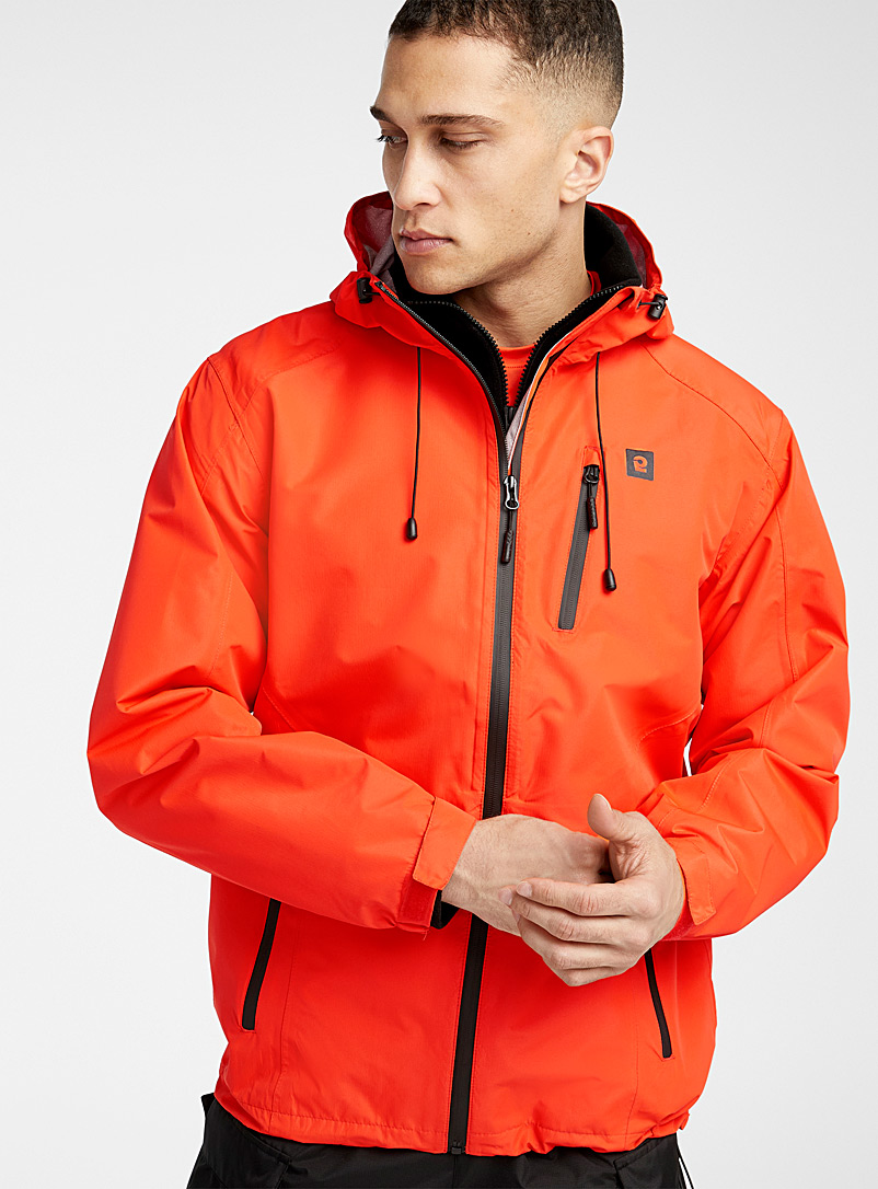 I.FIV5 Red Outdoor raincoat for men