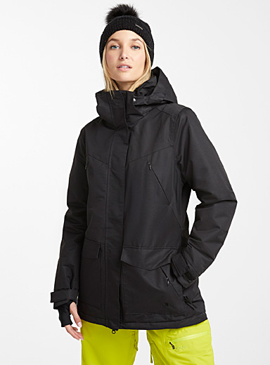 Sherpa-lined insulated coat <br>Regular fit