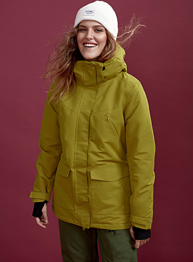 Sherpa-lined insulated coat  Regular fit