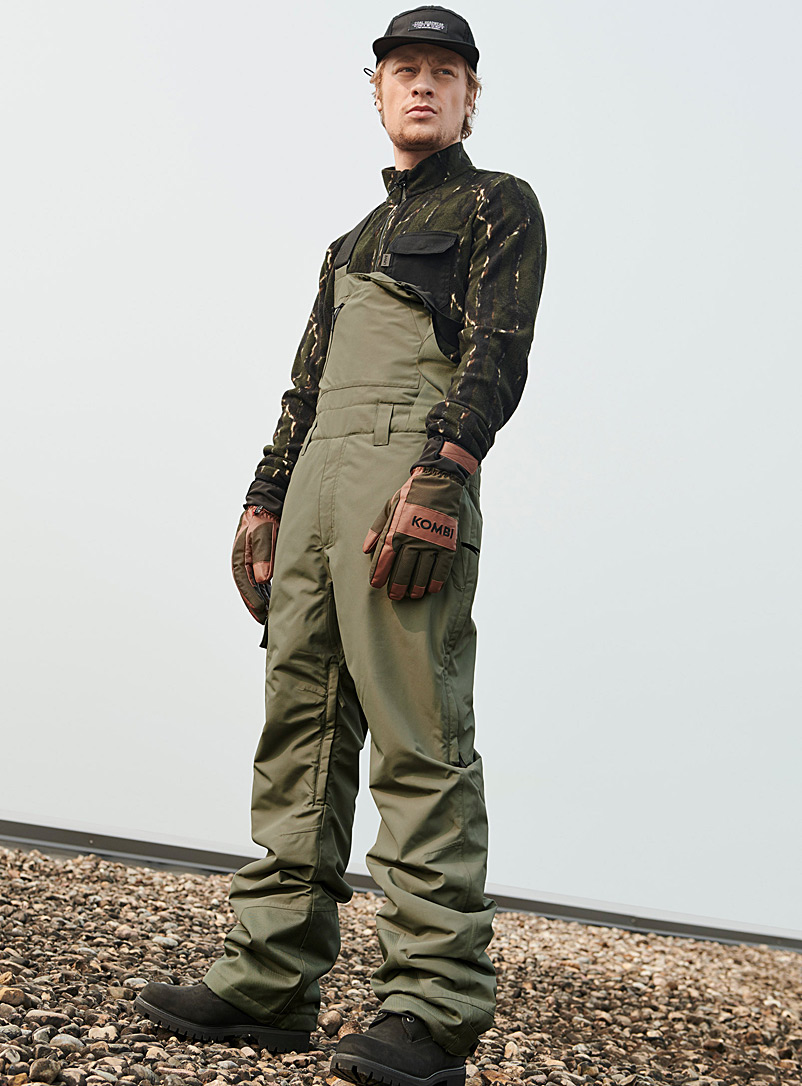Liquid Khaki Copper utility insulated overalls  Regular fit for men