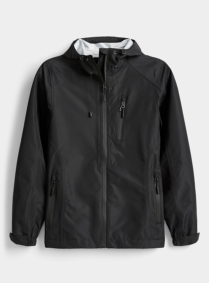 I.FIV5 Black Waterproof jacket for women