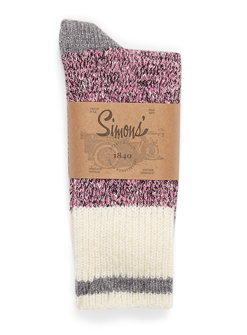Knit worker socks - Socks - Light Red