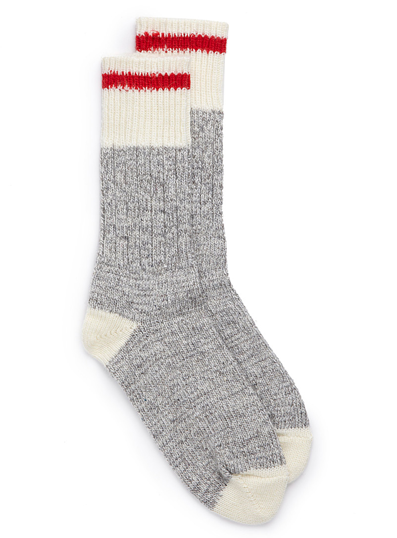 Simons Patterned Red Knit work socks for women