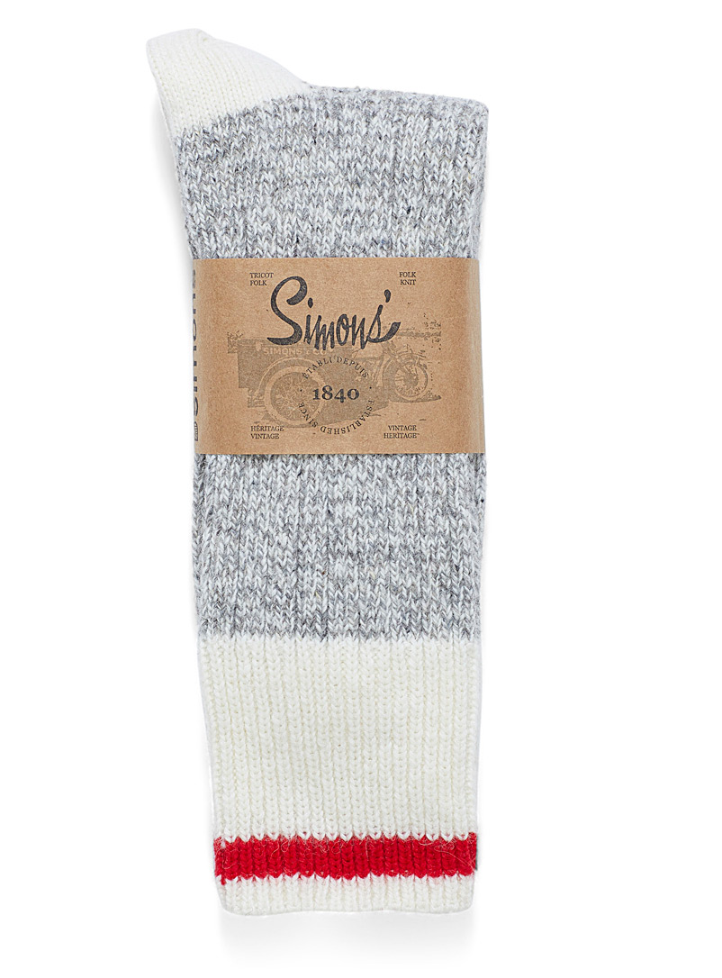 Le 31 Charcoal Work socks for men