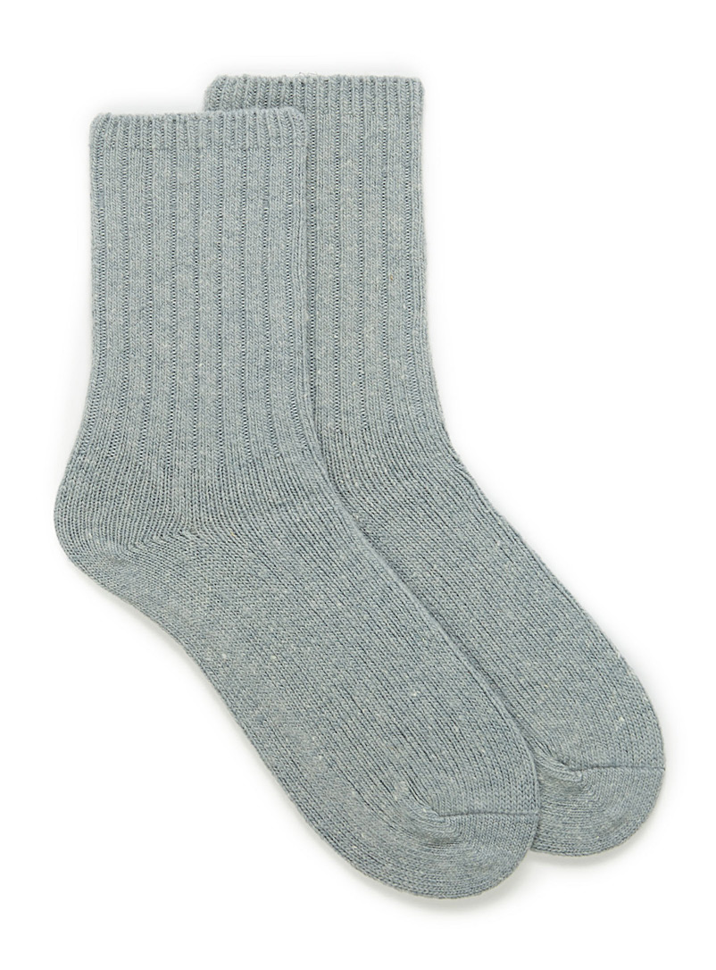 Lambswool socks - Casual socks - Charcoal