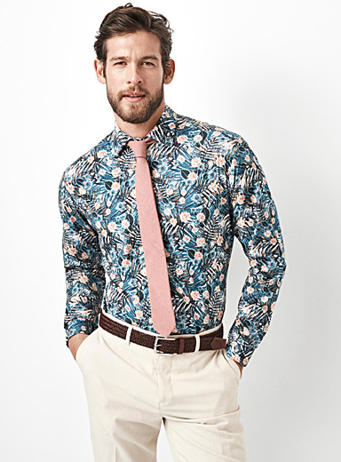 Tropical flora shirt <br>Semi-tailored fit