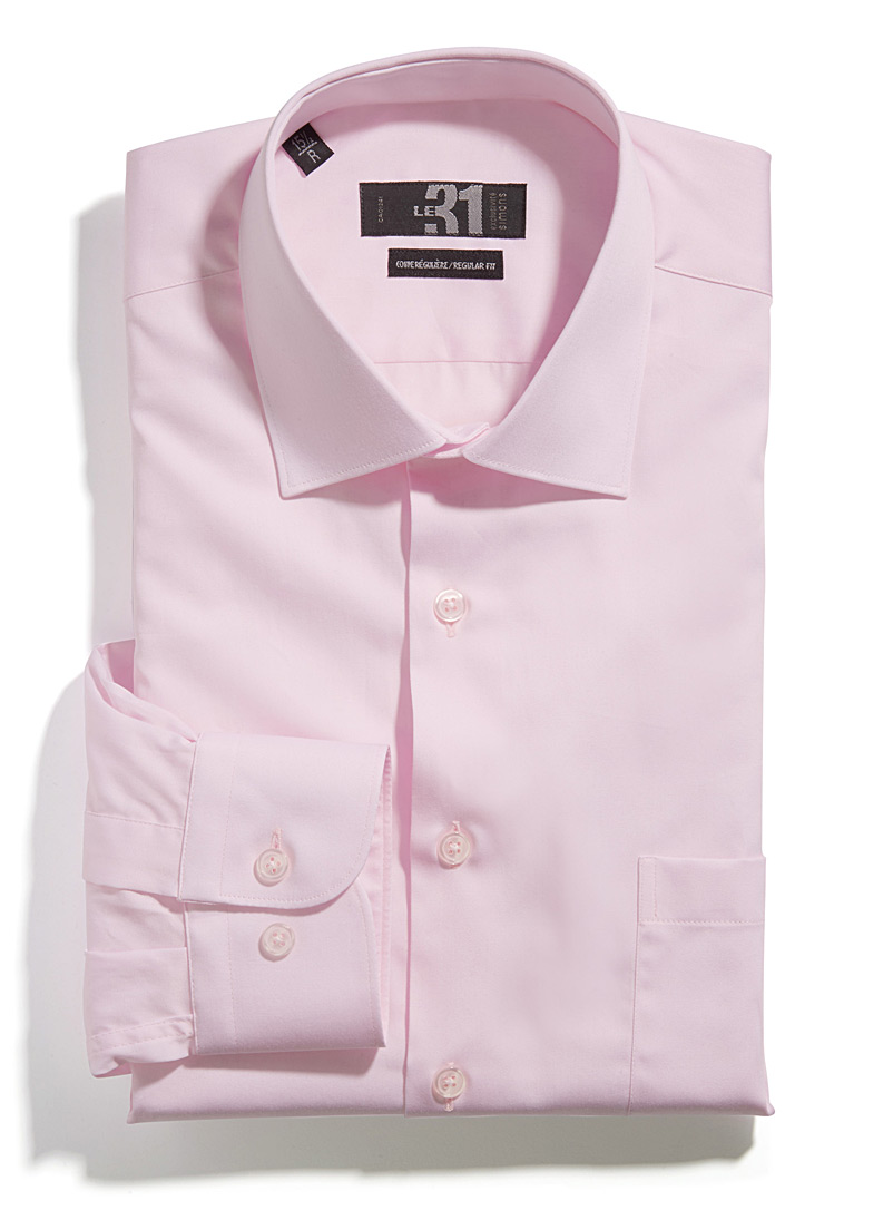 Satiny executive shirt  Regular fit - Comfort fit - Pink