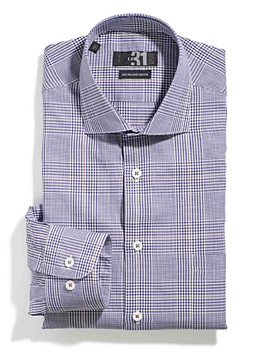 Prince of Wales shirt <br>Semi-tailored fit