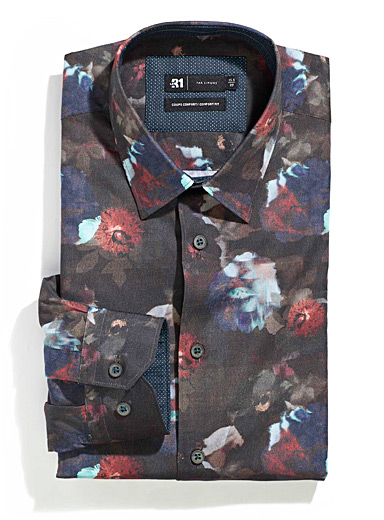 Dark painterly shirt  Comfort fit