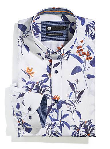 Tropical flower shirt  Comfort fit