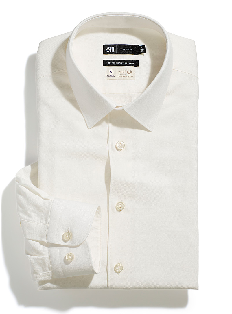 Eco logic ivory shirt  Modern fit
